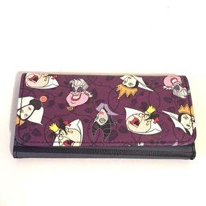 NWOT Disney Villains Billfold Wallet in Purple